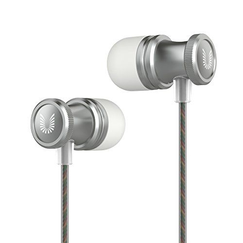 nice Uiisii US80 In Ear Headphones Sport Earbuds with Mic Stereo Bass 3.5mm Jack for Apple iOS and Android Smartphones PC Tablet (Gray)