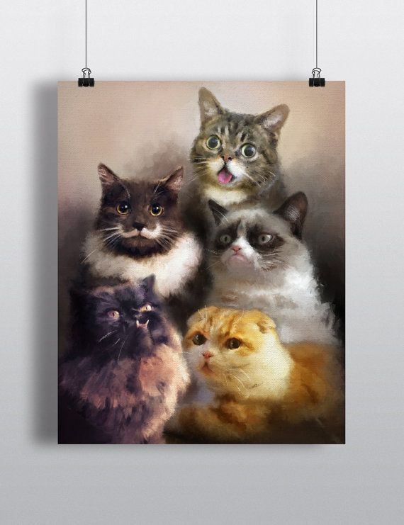 Cats On The Internet  Cat Painting  Cat by DrunkGirlDesigns