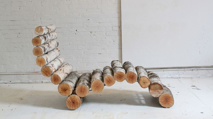 HomeMade Modern, Episode 14 – DIY Log Lounger. The log lounge chair is a great way to turn yard waste that would otherwise end up in landfill or a fireplace into sturdy outdoor furniture.