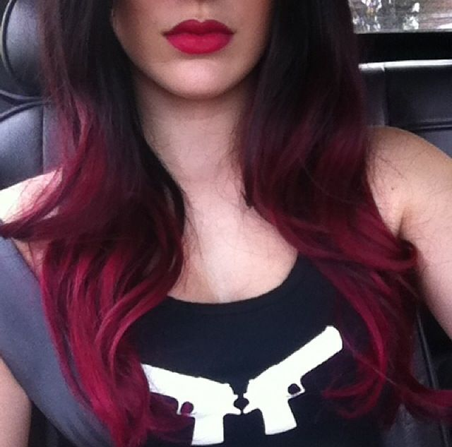 My hair black to burgundy ombr hair pinterest burgundy my hair and black - Ombre hair marron ...