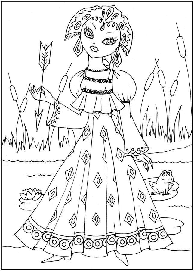 розмальовки для діточок, Казкові герої, роздрукувати ...