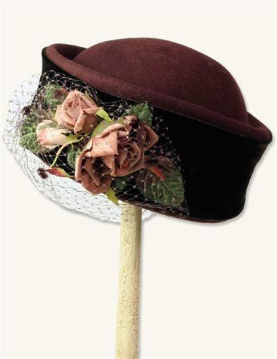 1940s Style Hats Tea Rose Pillbox Hat $49.99 AT vintagedancer.com