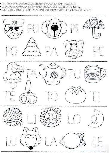 ejercicios de preescolar letras - Buscar con Google