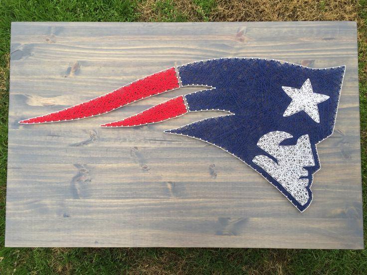 MADE TO ORDER! Custom New England Patriots string art sign by KailsStringArt on Etsy https://www.etsy.com/listing/253973853/made-to-order-custom-new-england