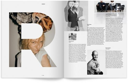 DANSK Magazine. This grid system is very different then most although it is still easy to read.