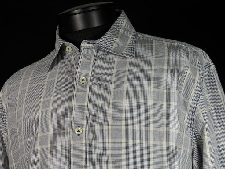 James Campbell Button Up Shirt Mens Size Large 100% Cotton Blue Off White Plaid  #Shopping #Style #Fashion  http://www.ebay.com/itm/James-Campbell-Button-Up-Shirt-Mens-Size-Large-100-Cotton-Blue-Off-White-Plaid-/271577671968?roken=cUgayN via @eBay