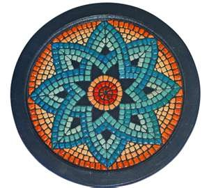 """Ancient Greek Mosaic Tray by ~birsenmahmutoglu on deviantART"" Chapter 4: Mosaic tile to accent or highlight design features. Greeks used to frame a room or to specify a particular area"