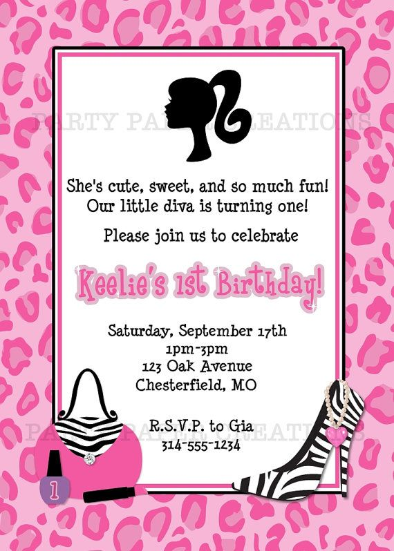 Cut birthday party invitation for your little diva