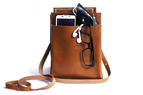 Mens bag  leather cover iPad Messenger  Mens business bag
