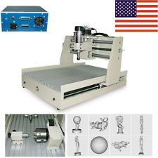 US 4 Axis Engraver 3040 CNC Router Engraving Drilling/Milling 3D Cutter Machine