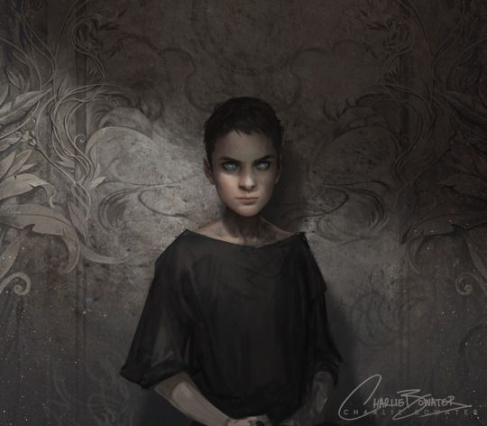The Bone Carver, as Feyre saw him by Charlie Bowater. young Aedan