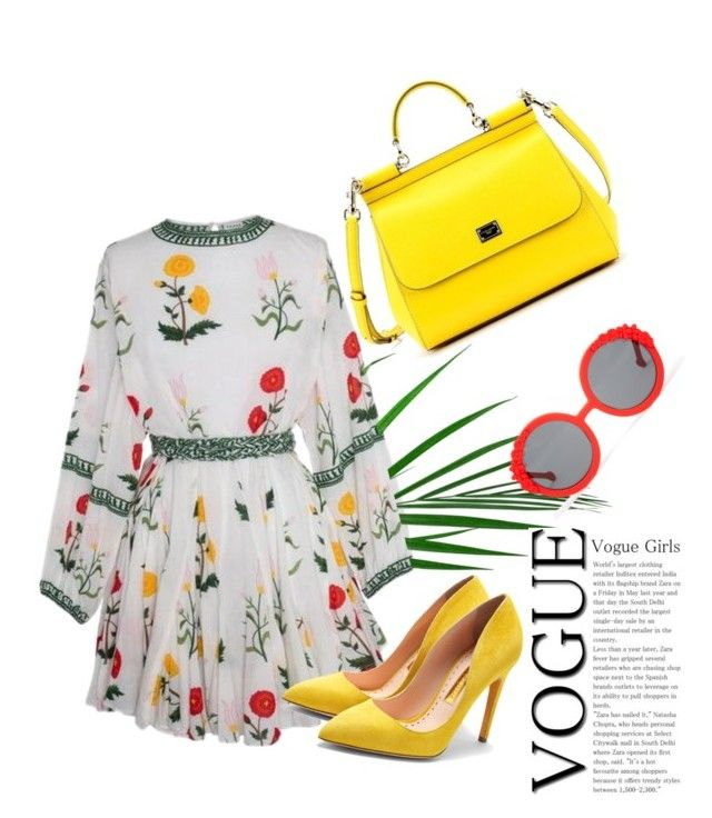 """прелесть"" by shushkova784 on Polyvore featuring Rupert Sanderson, Dolce&Gabbana and Preen"