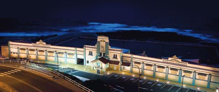 Newcastle NSW Ocean Baths at night http://www.newcastleconventionbureau.com.au/facilities-and-services