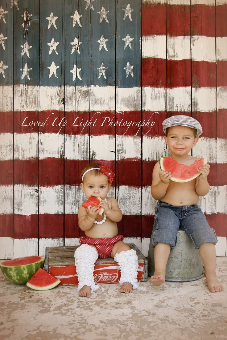 4th of july mini shoot Loved Up Light Photography: {Kids} Love this back drop!
