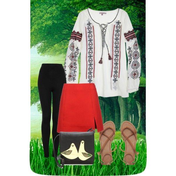 """la blouse roumaine"" by lamoda on Polyvore"