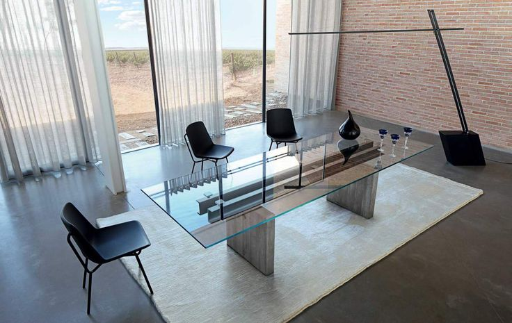 Less is more dining table from roche bobois home furnishings pinterest - Table salle a manger contemporaine roche bobois ...