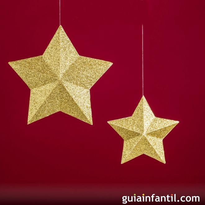 Estrellas de oro de Navidad