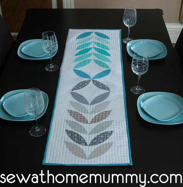 Sew at Home Mummy: 2014 Finish #2: Orla Kiely inspired table runner;