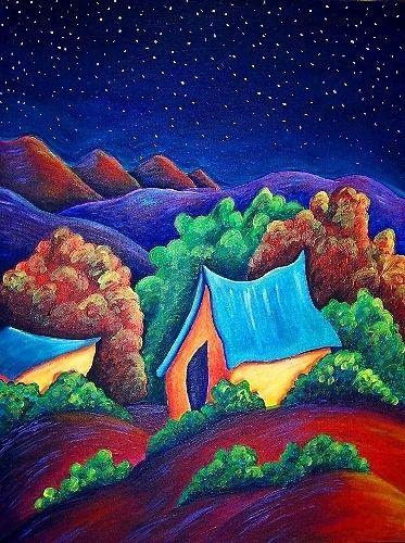 Framed Southwest New Mexico Original Landscape Painting EBSQ   | christine-wasankari - Painting on ArtFire