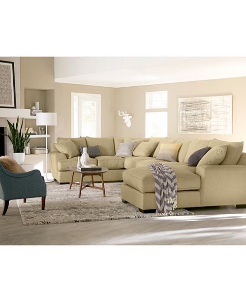 Furniture Ainsley Fabric Sectional Collection Created For Macy S
