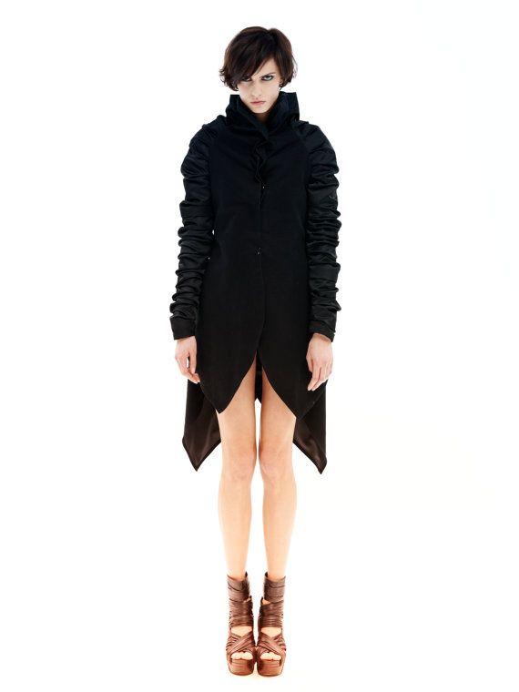 Plus Size Jacket, Sweater Jacket , Winter Outwear, Elegant Jacket, Plus Size Jacket, Cotton Jacket, Women's Black Jacket, Women's Blazer 1