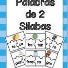 Este producto es un rompecabezas para 44 palabras de dos silabas. Hace buen practica para el reconocimiento fonologico. Alumnos separan las silabas...