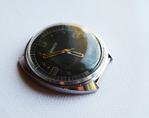 USSR (Soviet Union) RAKETA special limited edition wrist watch 1960 Ultra Ultra Rare !!!!!!!!! GOOD CONDITION!!!!!!!!!!!   Beautiful model! Fully working condition. Everything is original! Most of the watches were collected by my father for the past 40 years. Each one contains a small part of history , so order without any worries guys :)     !!!**** BEST DEALS HERE ! ****!!!    When purchasing a watch always keep in mind who made it ! Price is negotiable , so please message your offers…