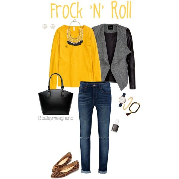 Essie Inspired: Frock 'n' Roll by baileymeaghanf on Polyvore featuring polyvore, fashion, style, H&M, Stella & Dot, FOSSIL, Saachi, Accessorize and Essie