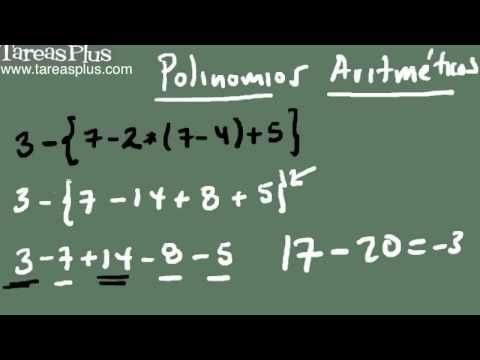 Polinomios aritméticos parte 2 (destrucción signos de agrupación)
