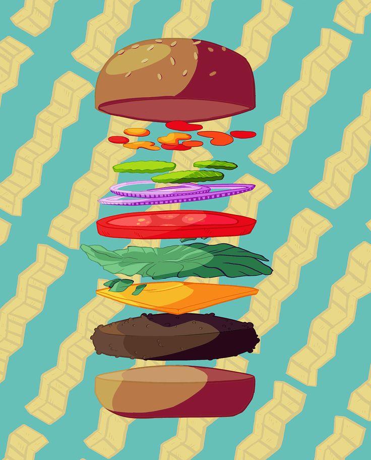 Floating Burger. 2015 on Behance