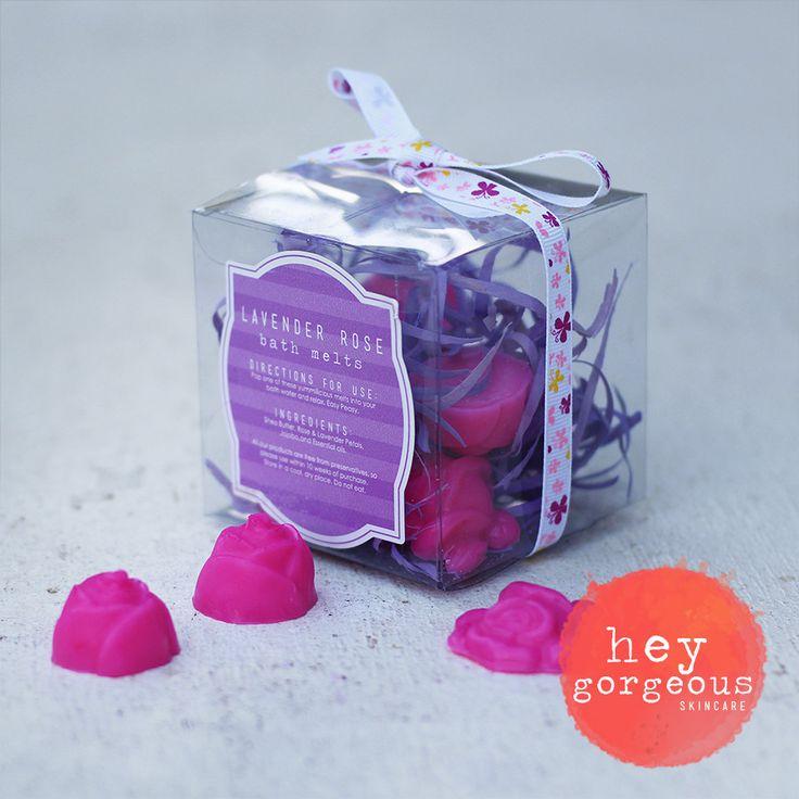 Luxurious Lavender Rose Bath Melts