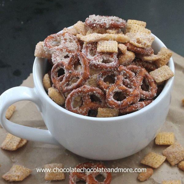 Sweet Salty Cinnamony Pretzel Snack Mix - Chocolate Chocolate and More!