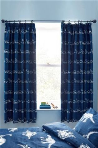 Dinosaur Pencil Pleat Blackout Curtains From The Next Uk Online