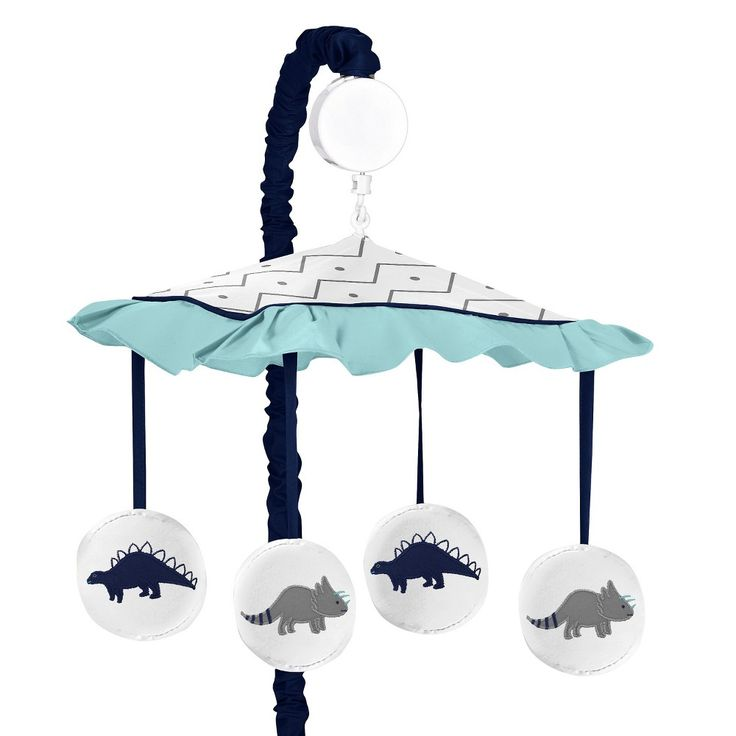 Sweet Jojo Designs Musical Crib Mobile - Blue & Green Mod Dino