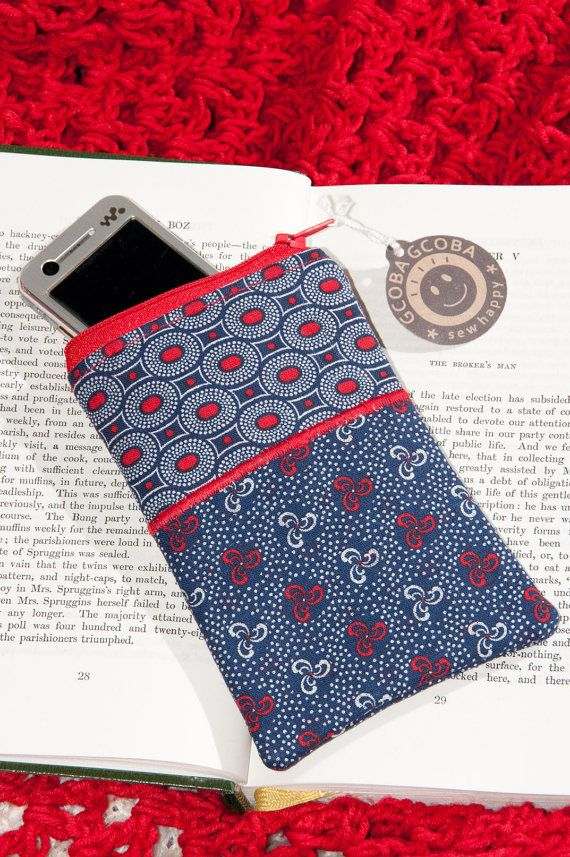 African Shweshwe Cell Phone Pouch. Truly South by GcobaGcoba, $6.00