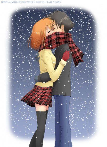 Ash and Misty on a winter night