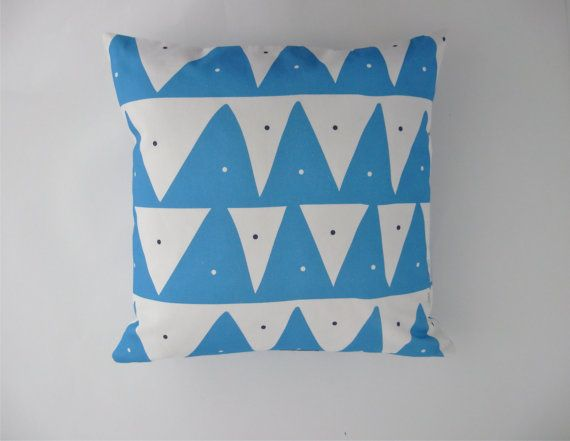 Scandinavian inspired pillow cover in Sky Blue by TroskoDesign