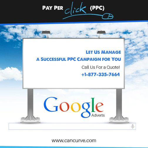 #PPC campaign can greatly boost your #website's prospective. Call us for an expert advice. www.cancurve.com