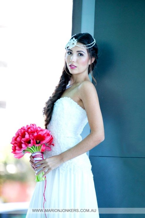 Makeup by Danielle Rusko; Flowers by Wendy's Flowers and Event Hire and Gown by Aleks Bridal