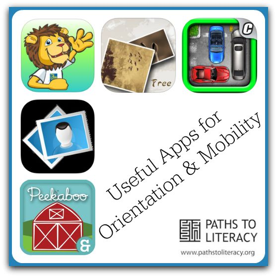 Useful apps for helping students who are blind or visually impaired to develop Orientation and Mobility skills