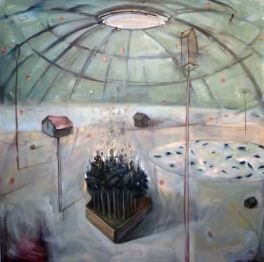 """Saatchi Art Artist Carl Jennings; Painting, """"Houses of the Astronomers II"""" #art"""