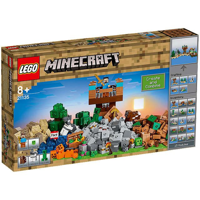BuyLEGO Minecraft 21135 The Crafting Box 2.0 Online at johnlewis.com