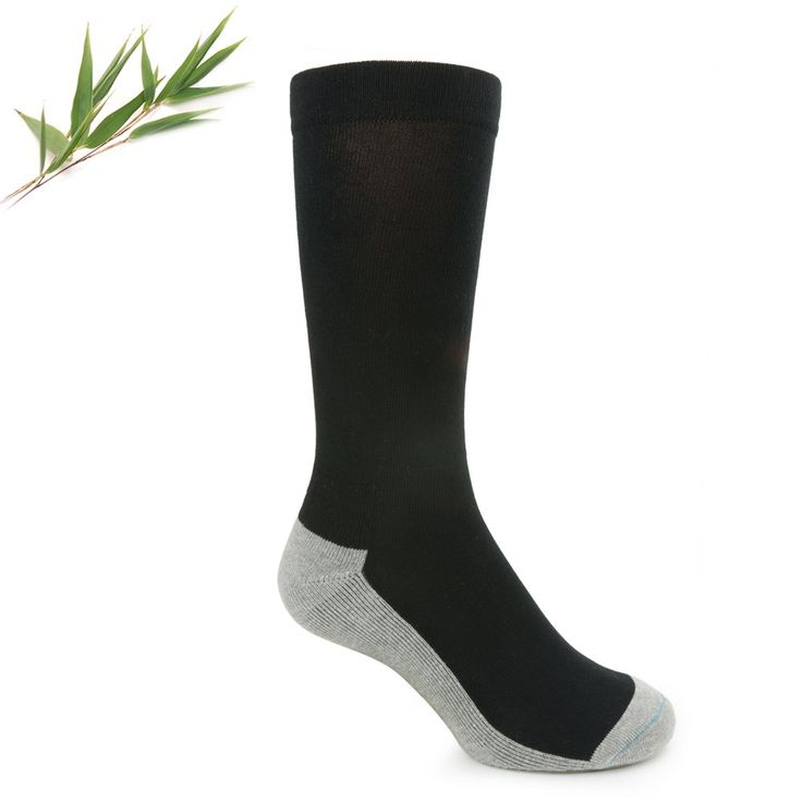 Bamboo Charcoal Health Socks for Men & WomenBamboo Comfort Sock with Charcoal fibre to absorb toxins.A soft, supportive and non-restrictive sock, ideal for those with circulation problems.Charcoal fibre knitted through the sole of the sock (the grey area only) absorbs toxins through the soles of your feet – similar to the way charcoal absorbs toxins when administered as an oral poisoning antidote. The loosely fitting top allows healthy blood flow. Provides excellent comfort, strength a