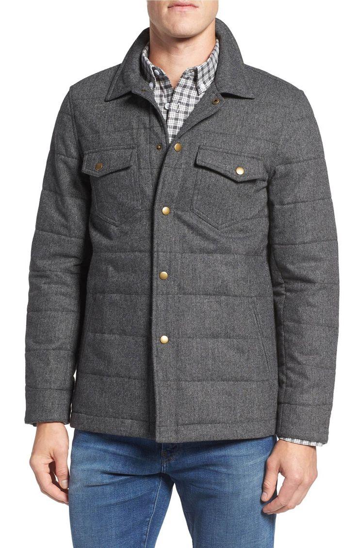 Main Image - Billy Reid Quilted Herringbone Shirt Jacket