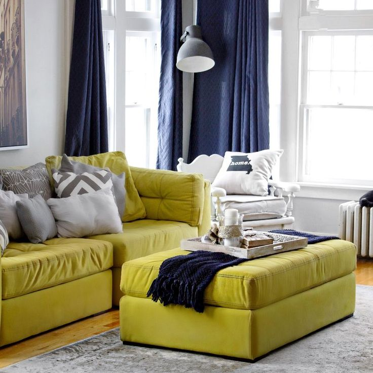 Inspiration From Home Stylist Mallory Huffman On My Big Yellow Couch