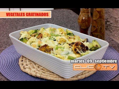 VEGETALES GRATINADOS - YouTube