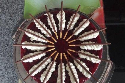Prinzenrolle - Torte mit Kirschen