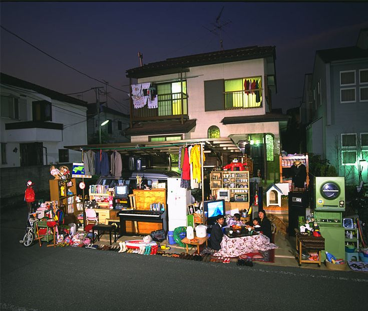 Material World Site shows what a typical person in countries around the world owns. They display everything out in the front yard, for instance.