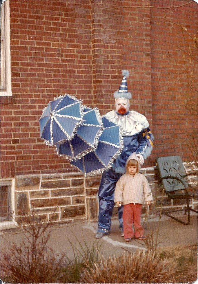 My dad was the one who first started this love/passion/desire of all things Clown!! I love you daddy!! (old pic of me and my dad)