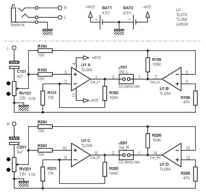 Headphone Amplifier Circuit Amplifiercircuit Circuit Diagram